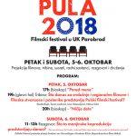 Filmski festival Mala Pula 2018. u Ustanovi kulture Parobrod 5. i 6. oktobra
